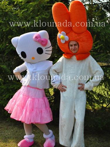 Ростовая кукла Зайка оранжевый (друг Китти)